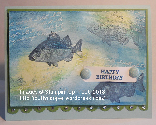 By the Tide, emboss resist, Stampin' Up!