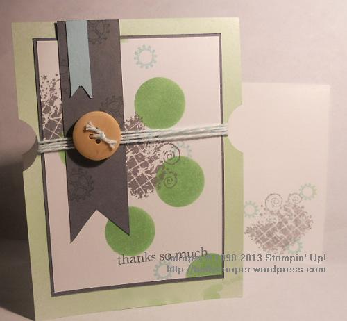 Stampin' Up! Baltimore Regional Make & Take, Clockworks