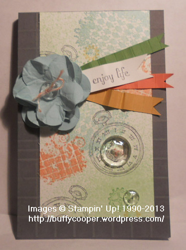 Stampin' Up! Baltimore Regional Make & Take, Clockworks, notebooks