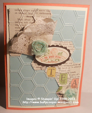 Tea for Two suite, Stampin' Up! Spring Catalog, Tea Shoppe