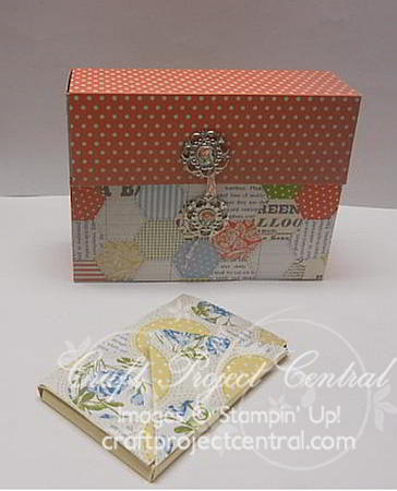 Stampin' Up!, card file boxes, Craft Project Central, Tea for Two