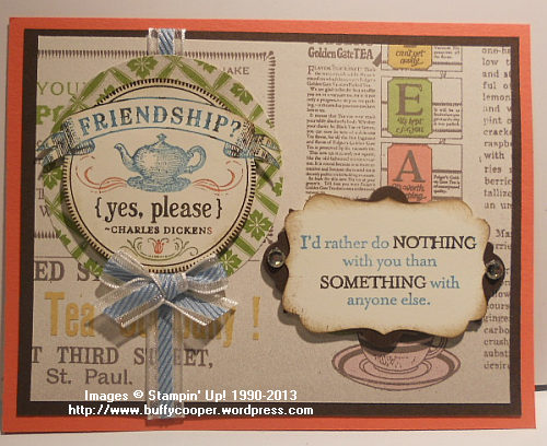 From My Heart, Tea for Two, Spring Catalog, Stampin' Up!