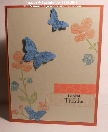 Wildflower Meadow, Butterflies, Washi Tape, Stampin' Up!