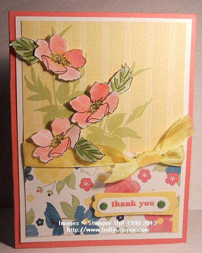 Watercoloring, Fabulous Florets, Stampin' Up!