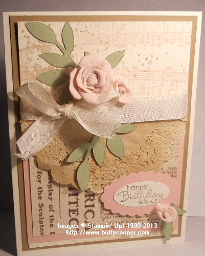 Simply Pressed Clay, vintage, Stampin' Up!, Blushing Bride