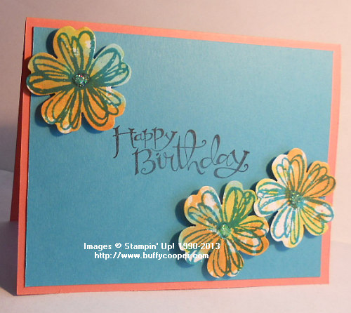 Flower Shop, Stampin' Up, Techniques