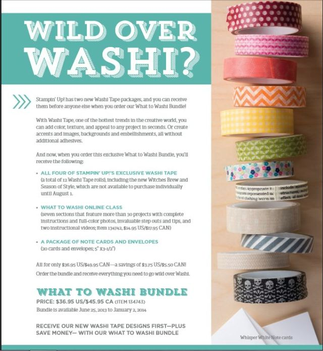 Washi Tape, Online Class, Stampin' Up!