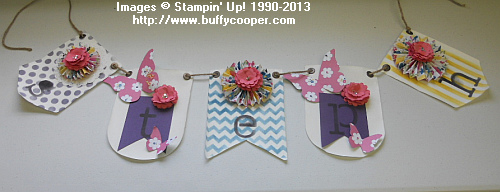 Birthday Banner, Banner Kits, simply created, Stampin' Up!