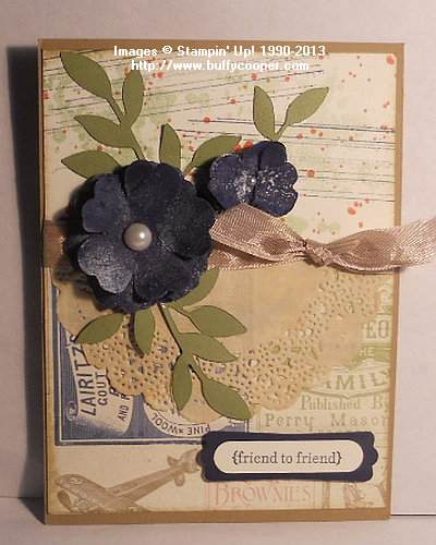 Stampin' Up! Convention 2013 swap; Gorgeous Grunge