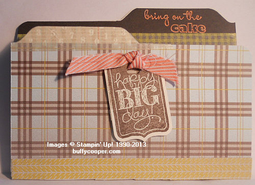 Envelope Punch Board, Bring on the Cake, Stampin' Up!