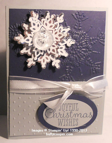 Festive Flurry, Silver Foil, Stampin' Up!