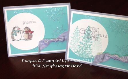 Best of Snow, Lovely as a Tree, Stampin' Up!, Christmas cards