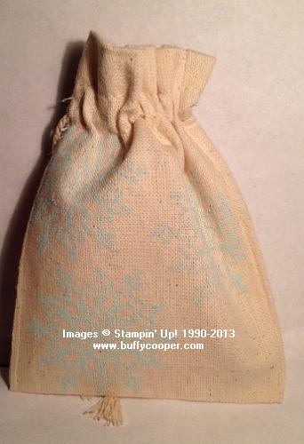 Mini Muslin Bags, Stampin' Up!, Christmas presents