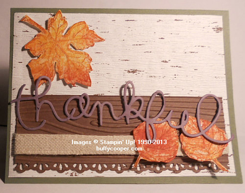 Gently Falling, Thinlits, Big Shot, Stampin' Up!