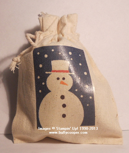Mini Muslin Bags, Holidays, Stampin' Up!, MDS