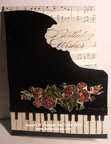 Best of Flowers, Music cards, Stampin' Up!
