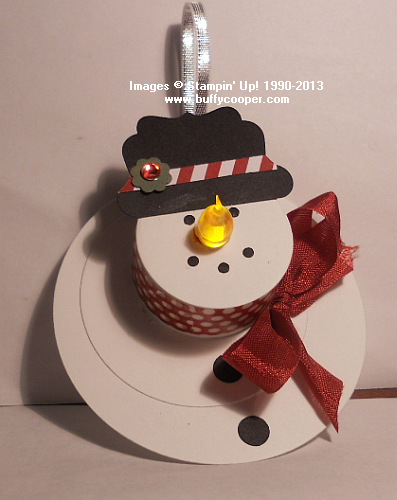 Tea Light Snowman Stamping With Buffy