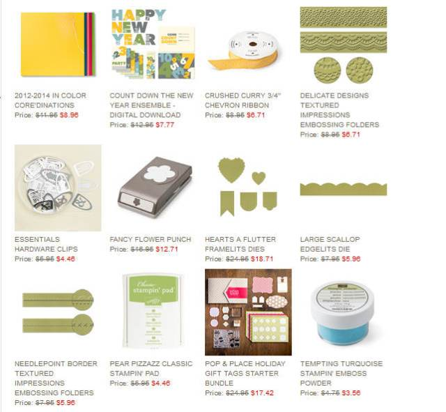 Stampin' Up!, Weekly Deals, Savings