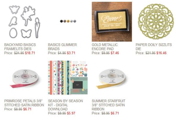 Weekly Deals, Stampin' Up!, Online Shopping