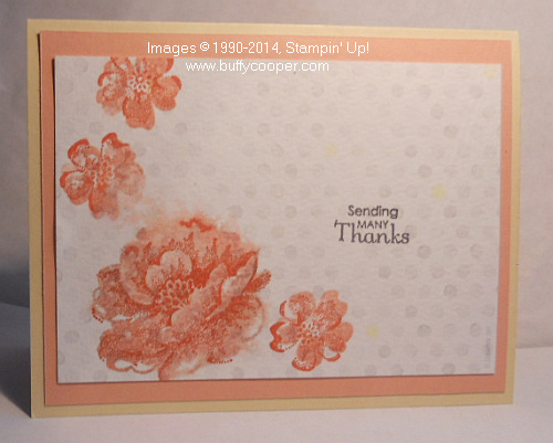 Stippled Blossoms, Stampin' Up!, Watercolor Wonder