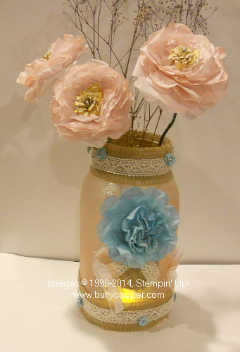 Painted Mason Jar, DIY, Stampin' Up!