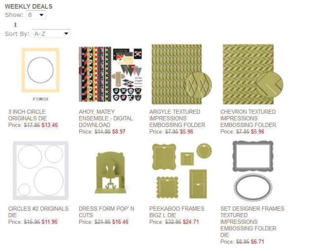 weekly deals, Stampin' up!, online specials