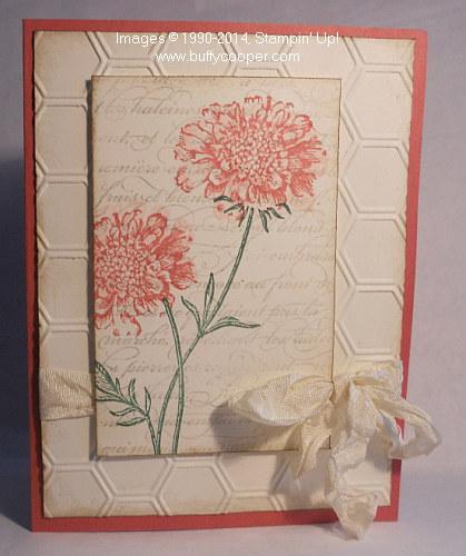 Field Flowers, Honey Comb Embossing Folder, En Francais