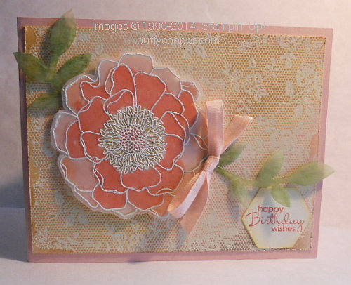 Stampin' Up!, I Love Lace, Blended Bloom