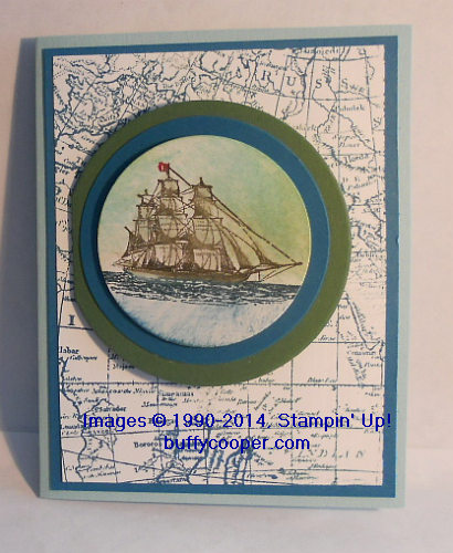 Open Sea, World Map, Amazing Birthday, Stampin' Up!