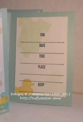 Something for Baby, Stampin' Up!, Date Time Place