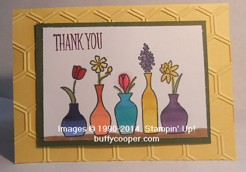 Ombre Vases - Stamping in Winchester, VA, with Buffy Cooper