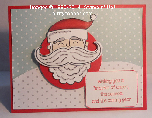 Santa Stache, Stampin' Up!