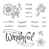 You're Wonderful, Photopolymer stamps, Stampin' Up!