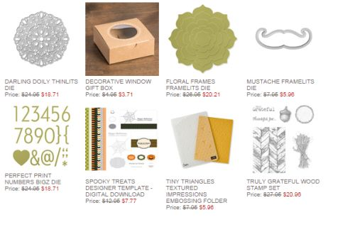 Stampin' Up!, Weekly Deals