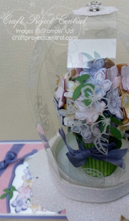 Domed Pedestal Floral Bouquet & Card SP