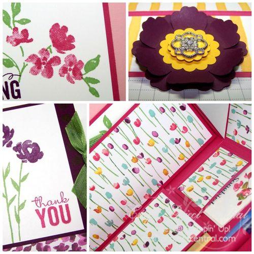 Painted Blooms Stationery Box Collage SP