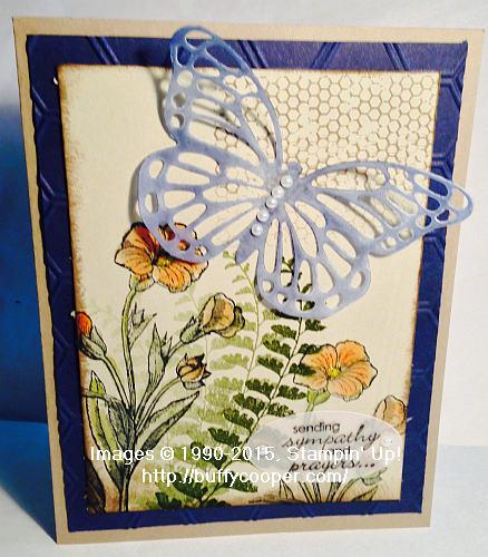 Butterfly Basics, sympathy, Stampin' Up!