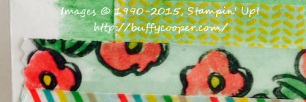 Faux Washi Tape, Stampin' Up!, Garden in Bloom