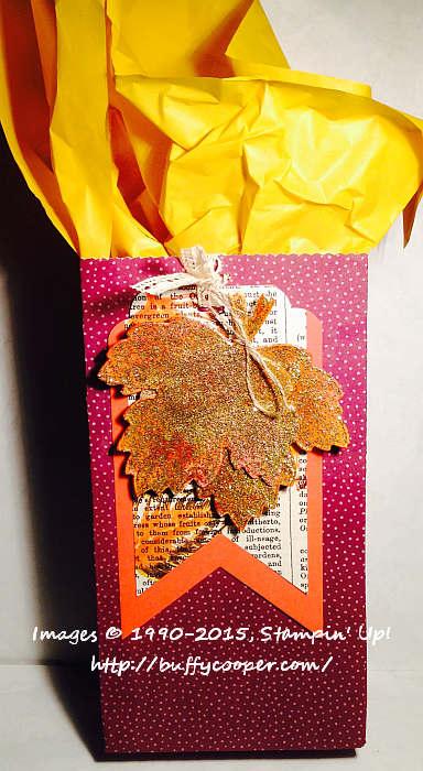 Vintage Leaves, Gift Bag Punch Board