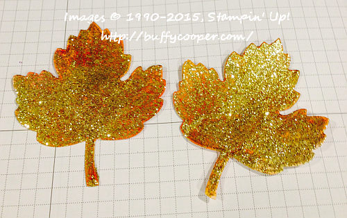 Gold Stampin' Glitter, Vintage Leaves, Stampin' Up!