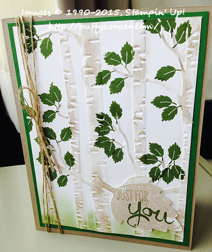 Among the Branches, Woodland TIEF, Stampin' Up!