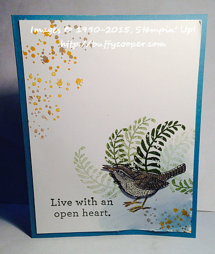 An Open Heart, Awesomely Artistic, Stampin' Up!