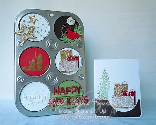 Altered Muffin Tin & Card