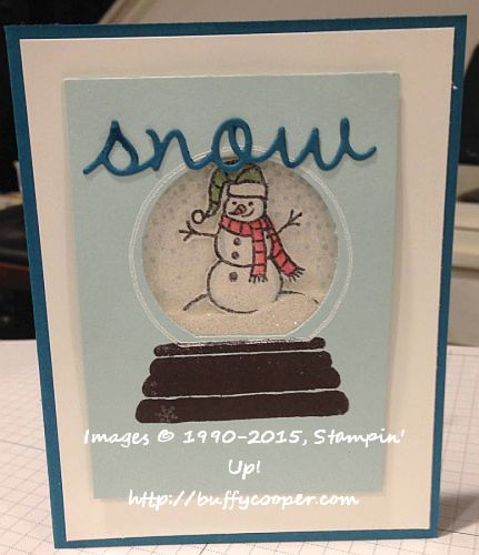 WWC41, Stampin' Up!, Snow Place