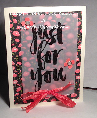 Botanicals for You, Stampin' Up!, Sale-a-bration
