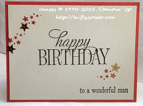 Be the Star, Happy Birthday Everyone, Stampin' Up!