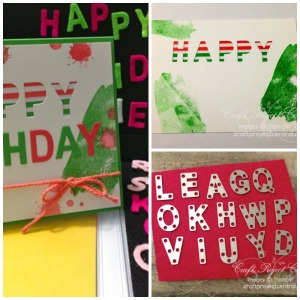 Little Letters, Stampin' Up!, Craft Project Central