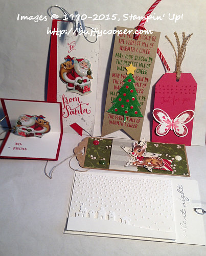 Stampin' Up!, Holidays, Tags