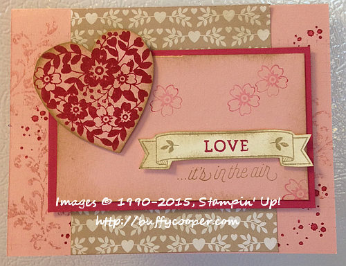 Love Blossoms, Bloomin' Love, Timeless Textures, Stampin' Up!