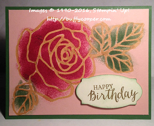 Rose Wonder, Rose Garden, Stampin' Up!